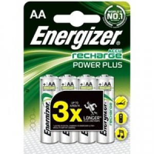Energizer Rechargeable Battery AA 2000 MaH Pk 4 627916