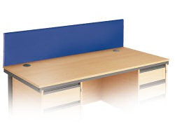 Economy Dsk Scrn Rect 1600Wx400H- Blue