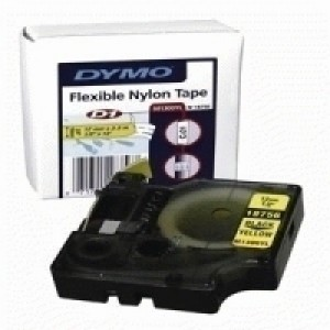 Dymo RhinoPRO Industrial Tape Flexible Nylon 12mm White Ref 18758 S0718100