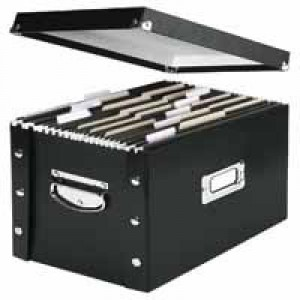 Leitz Vaultz Suspension File Storage Box A4/Foolscap Black 60670095