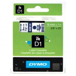 Dymo 1000/5000 Tape 9mm x7m Blue/White 40914 S0720690