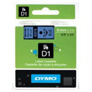 Dymo 1000/5000 Tape 9mm x7m Black/Blue 40916 S0720710
