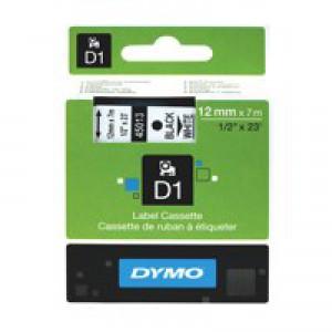 Dymo 4500 Tape Black/White 45013 S0720530