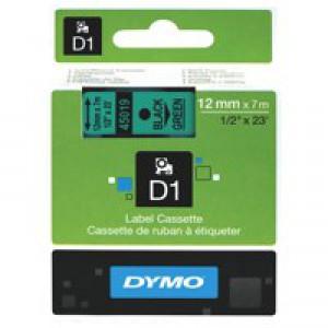 Dymo 4500 Tape Black/Green 45019 S0720590
