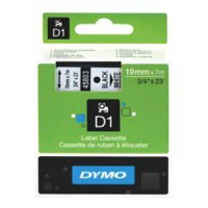Dymo 2000/5500 Tape 19mm Black/White 45803 S0720830