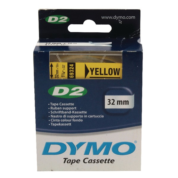 Dymo PC10/9000 Tape 32mm Yellow 69324 S0721280
