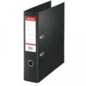 Esselte Lever Arch File Polypropylene Foolscap 75mm Black 48087