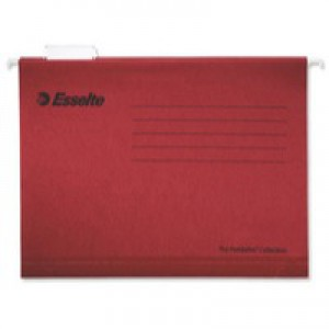 Esselte Pendaflex Economy Suspension File Foolscap Red Pack of 25 90336