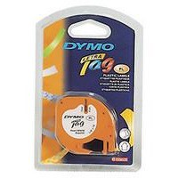 Dymo Letratag Plastic Tape 12mm x4 Metres Cosmic Red S0721630