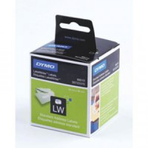Dymo Labelwriter Labels Standard Address 28x89mm Ref 99010 S0722370 [Pack 2x130]
