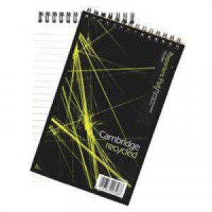 Cambridge Notebook Recycled Wirebound 70gsm Headbound Ruled 160pp 200x125mm Ref 100080468 [Pack 10]