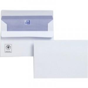 Plus Fabric Envelopes Wallet Press Seal 110gsm C6 White [Pack 500]