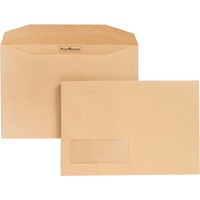 Postmaster Envelope Low Window 6.25x9.25 inches Manilla Pack of 500
