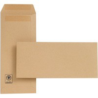 New Guardian Envelope 229x102mm 130gsm Manilla Self-Seal Pack of 500