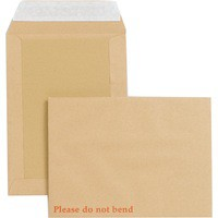 New Guardian Envelopes Heavyweight Board-backed Peel and Seal Manilla 241x178mm [Pack 125]