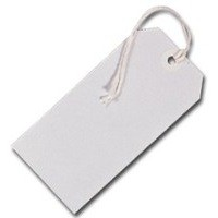 Fisher Clark Tags Strung 3CKL 96x48mm White Single Pack of 75 8012