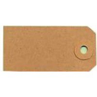 Fisher Clark Tags Unstrung 1A 70x35mm Buff Single Pack of 1000 TG8021