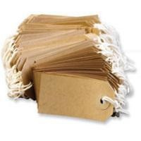 Fisher Clark Tags Strung 3A 96x48mm Buff Single Pack of 1000 TG8072