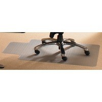 Cleartex PVC Chairmat for Carpets Contoured 990x1250mm Clear 119932SV