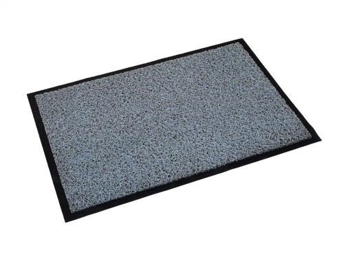 Outdoor Mat Vinyl Fibre Surface Vinyl Back 900x1500mm Grey