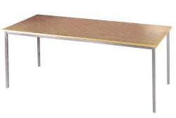 Rectangular Flexi Table Silver Frame