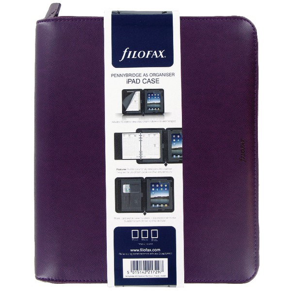 Filofax Pennybridge Personal Organiser A5 Purple Ref 028034