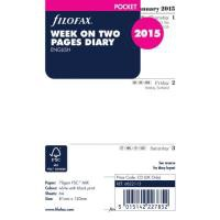 FiloFax White Pocket 2015 Week to View Diary Insert 6822115