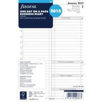 Image for FiloFax White A5 2015 Day Per Page Diary Insert 6851915