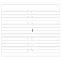 Filofax A5 Ruled Paper White 343008