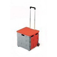 GPC Folding Box Truck with Lid Grey and Red GI042Y