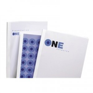 Acco GBC A4 Thermal Binding Cover 1.5mm 200gsm PVC/Gloss Back Clear/White Pack of 100 IB370014
