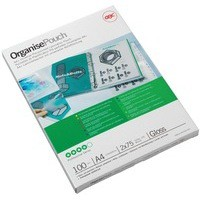 Acco GBC Laminating Pouch A4 Filing 150micron Pack of 100 41664E