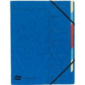 Europa 7-Part Organiser A4 Blue 5219Z