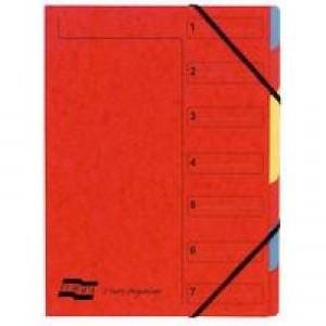 Europa 7-Part Organiser A4 Red 5221Z