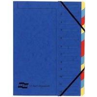 Europa 12-Part Organiser A4 Blue 5222Z