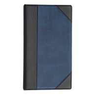 Image for Goldline Business Card Binder 128 Capacity Half Bound Cover Blue DBCB4/BL