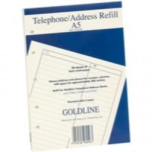 Goldline Address Book Refill Ruled Feint A5 GA5/R