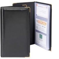 Goldline Business Card Holder Deluxe Stitched Black Capacity 96 SBC3P/BLK