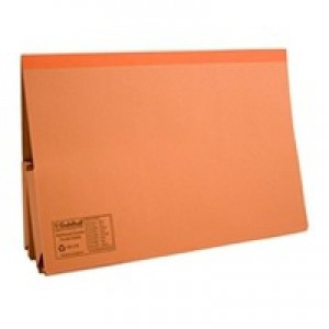 Guildhall Double Pocket Legal Wallet Foolscap Orange