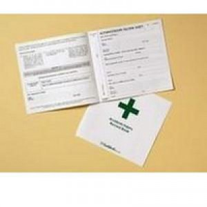 Guildhall Accident Book 20 Pages 210x200mm Green and White Code T44