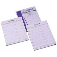 Guildhall Workmens Time Sheet 10x8 Inches Saturday-Friday Pk 100 130