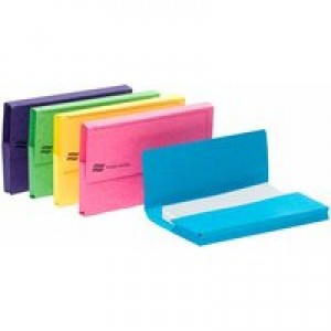 Europa Pocket Wallet Foolscap Assorted Pack of 25 3156Z