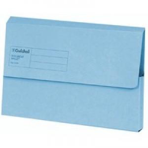 Guildhall Document Wallet Blue Angel Blue GDW1-BLU