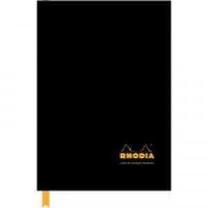 Rhodia Business Book A4 Casebound Hard Back 192 Pages Black 119230C