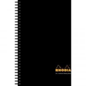 Rhodia Meeting Book A4+ Wirebound Hard Back Black 119238C