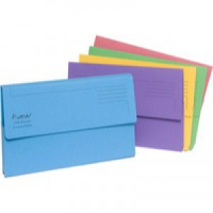 Guildhall Bright Manilla Wallet A4 Assorted Pack of 25 211/500