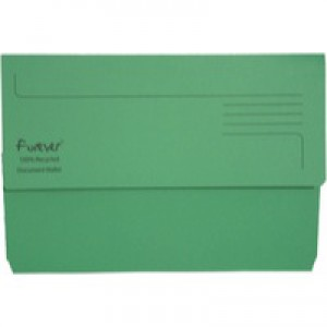 Guildhall Bright Foolscap Manilla Wallet Green 211/5004