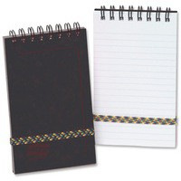 Europa Minor Notepad Wirebound Elasticated Ruled 80gsm 120 Pages 127x76mm Black Code 3012