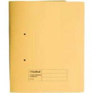 Guildhall Super Heavyweight Pocket Spiral File Yellow 211/6003