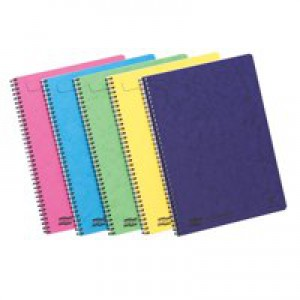 Europa Notemaker A4 Side Bound Pack of 10 Assorted C 120 Pages Ruled Feint 3154